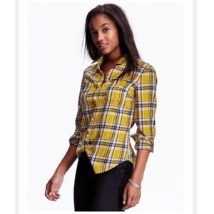 Old Navy TALL Classic Plaid Flannel